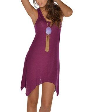 Purple Sidetail Dress