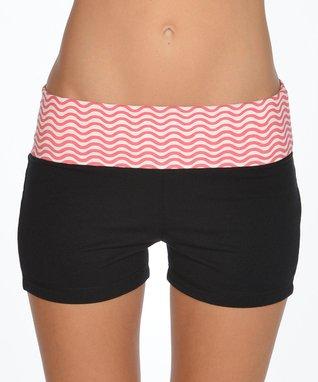 Neon Orange Ruched Sheer Shorts - Women