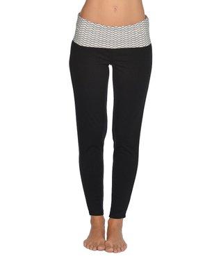 Black & Turquoise Stripe Straight-Leg Pants