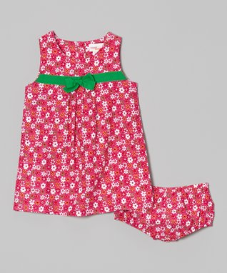 Duck Duck Goose Orange & Pink 'Such a Little Lady' Bodysuit Set - Infant