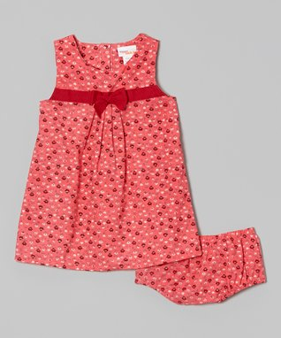 2B Real Pink Surplice Dress - Infant & Toddler