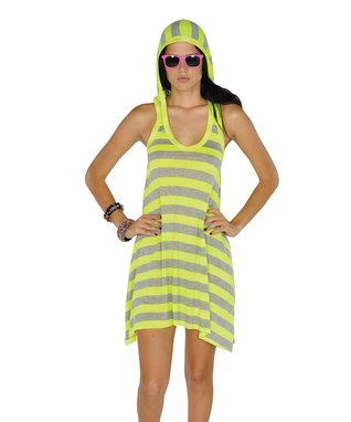 Neon Green Stripe Maxi Dress - Women