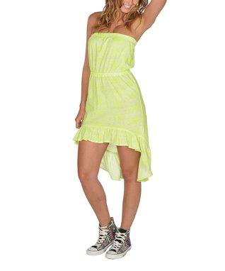 Neon Green Floral Dress