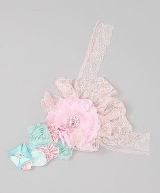 Aqua & Pink Couture Headband