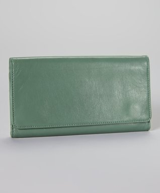 Latico Leather Sea Green Shelby Wallet