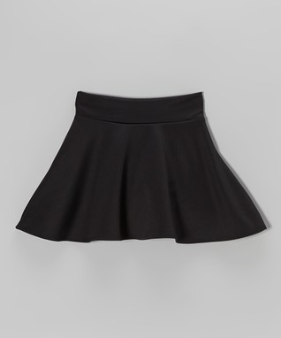Black Skater Skirt - Girls