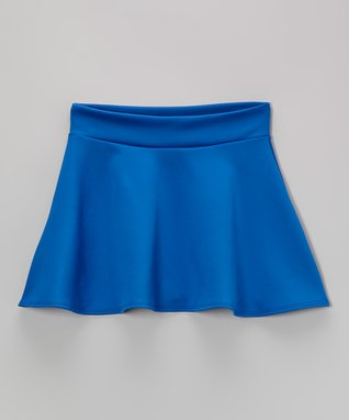 Royal Blue Skater Skirt - Girls