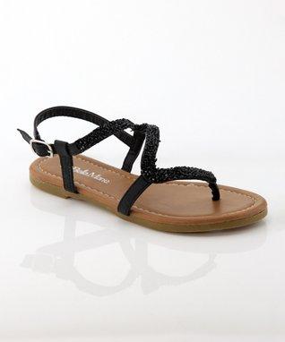 Black Meimei Sandal