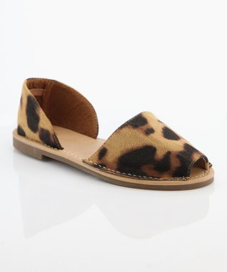 Leopard Jazz Peep-Toe Sandal