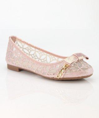 Pink Bow Dana Ballet Flat