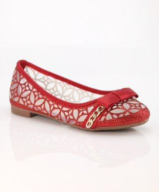 Red Bow Dana Ballet Flat