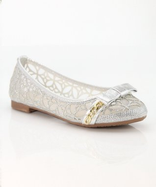 Silver Bow Dana Ballet Flat