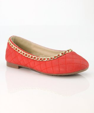 Red Chain Dana Ballet Flat