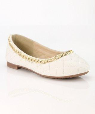 White Chain Dana Ballet Flat