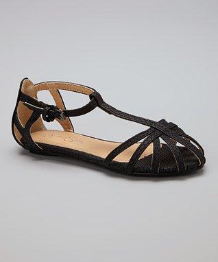 Black Caged Sandal