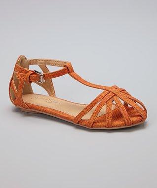 Rust Caged Sandal