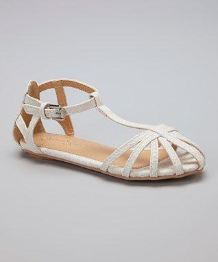 White Caged Sandal