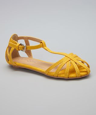Yellow Caged Sandal