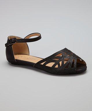 Black Glitter Sandal