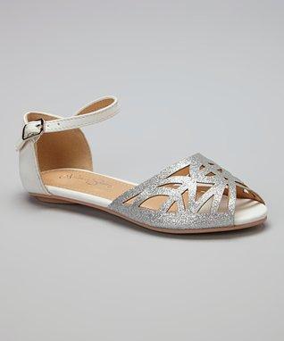 Silver Glitter Sandal