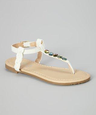White Gem Sandal