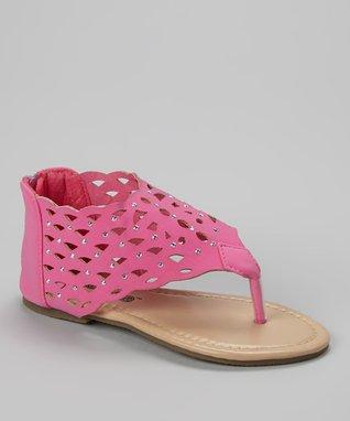 Purple Cutout Sandal