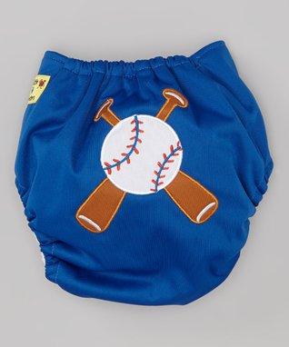 Little Monsters Blue Baseball Pocket Diaper