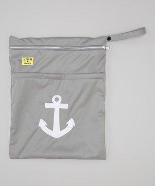 Little Monsters Gray Anchor Wet Bag