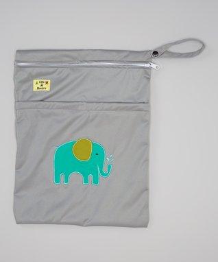 Little Monsters Gray Elephant Wet Bag