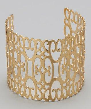 Gold Filigree Cutout Cuff