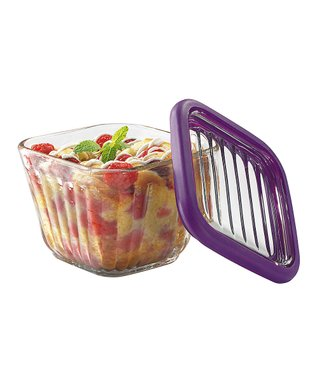 Eggplant Two-Cup Bake 'n' Store Storage Container & Lid