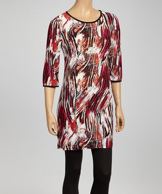 Fuchsia Sparks Fly Tunic Dress - Women & Plus