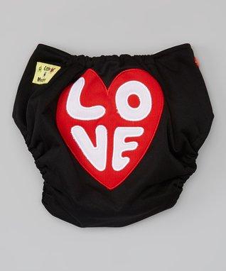 Little Monsters Black 'Love' Pocket Diaper