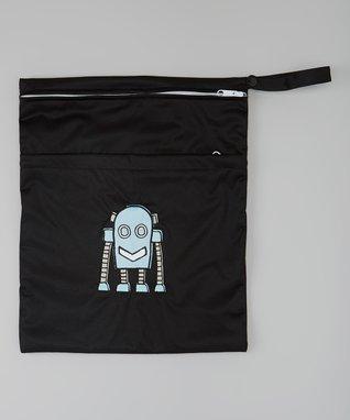 Little Monsters Black & Blue Robot Wet Bag