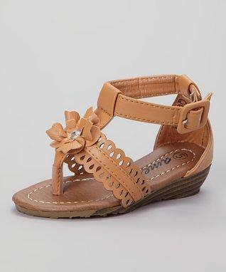 Tan Bella Open Toe Sandal