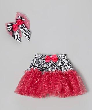 Red & White Polka Dot Bow Pettiskirt - Infant, Toddler & Girls