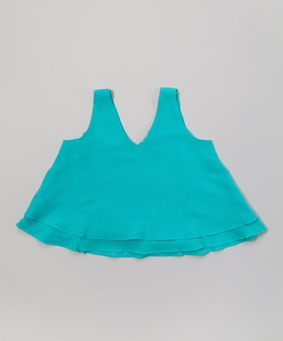 Apollo Turquoise Crop Tank - Girls