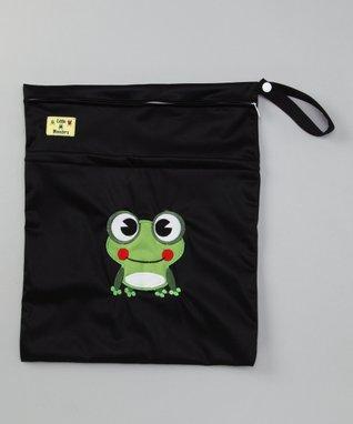 Little Monsters Black Frog Wet Bag
