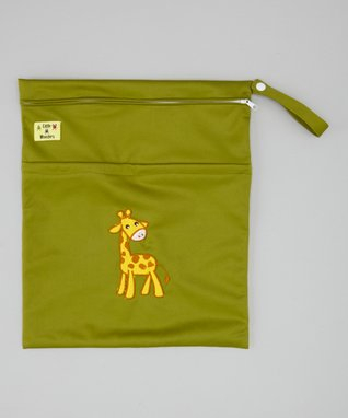 Little Monsters Green Giraffe Wet Bag