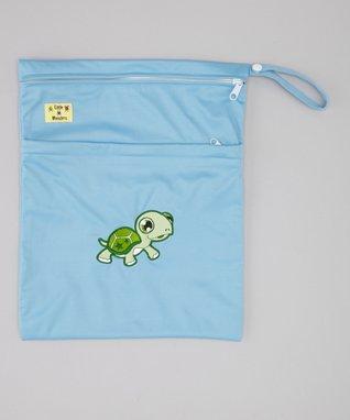 Little Monsters Blue Turtle Wet Bag