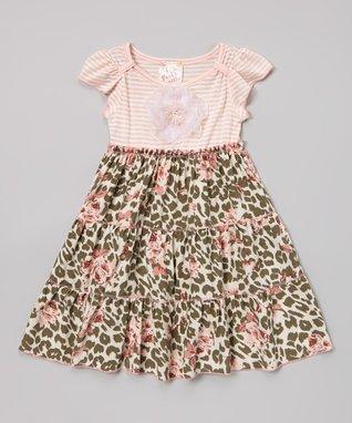 Coral Floral Dress - Toddler & Girls