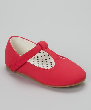 Red Lovely T-Strap Shoe