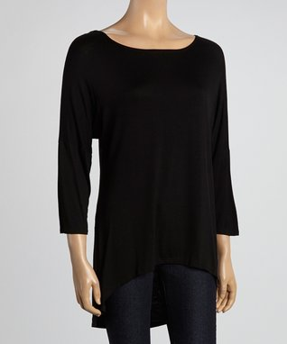 MOA Collection Black Hi-Low Dolman Tunic