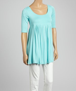 MOA Collection Mint Empire-Waist Top