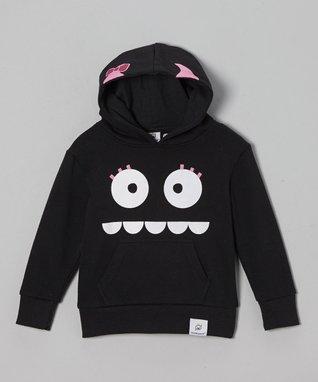Doodle Pants Black Eyelashes Monster Hoodie - Infant & Toddler