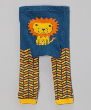 Doodle Pants Brown & Orange Flower Leggings - Infant