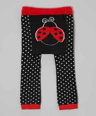 Doodle Pants Black & Red Ladybug Leggings - Infant
