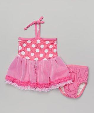 Pink Dot Bathing Beauty Tankini - Infant