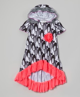 Charcoal & Fuchsia Cover-Up Dress - Toddler & Girls