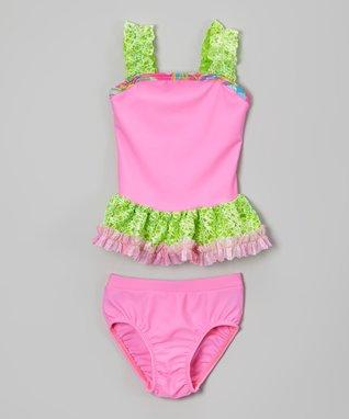 Bubble Gum Pink Ruffle Tankini - Toddler & Girls